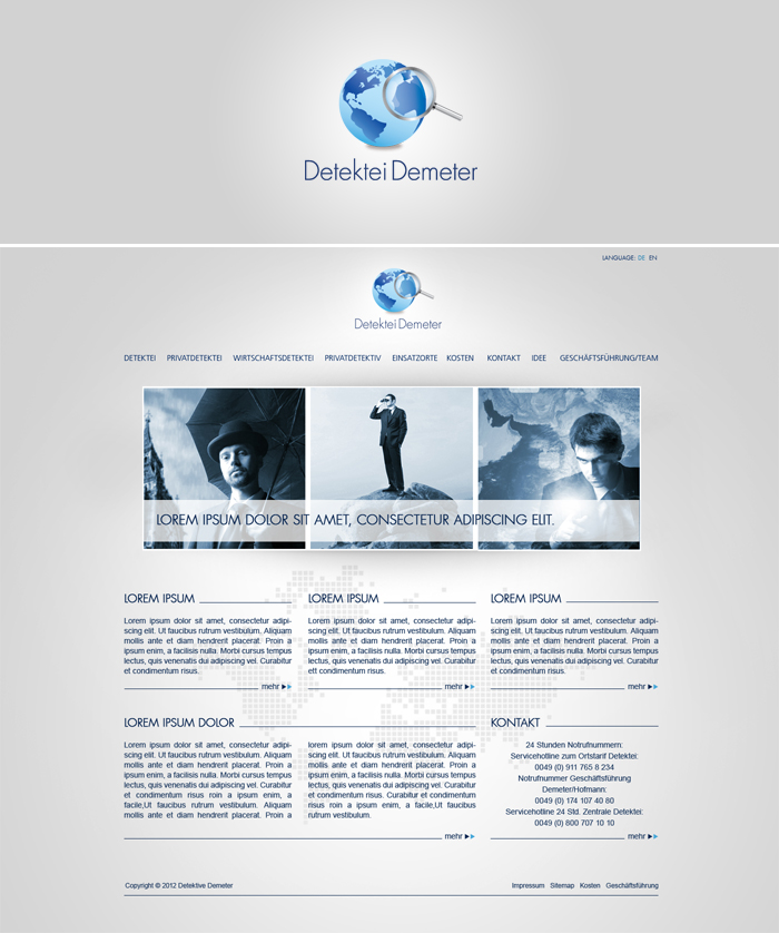 Logo and website project - screen 1