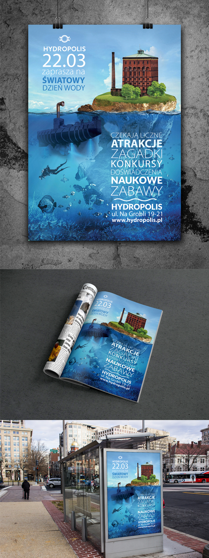 Poster and ad magazine for Hydropolis - screen 1