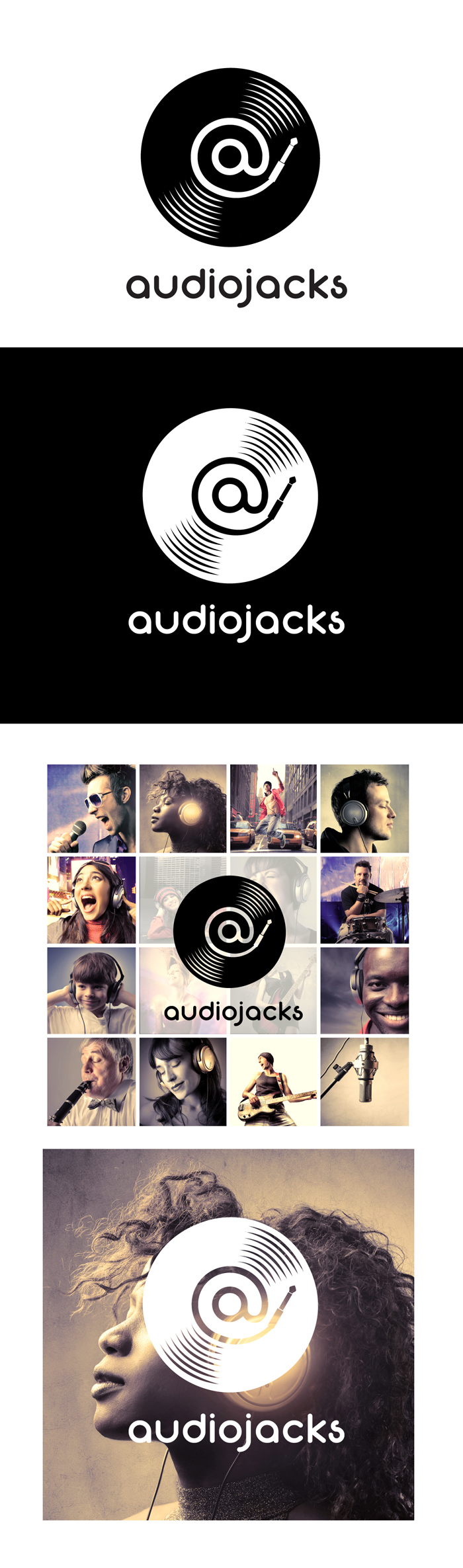 Audiojacks logo project - screen 1