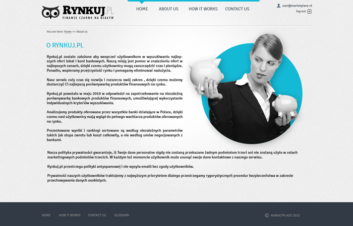 website project for rynkuj.pl - screen 2
